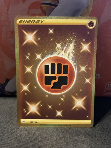 Pokemon Chilling Reign Fighting Energy GOLD SECRET RARE Card 233/198 NM/M
