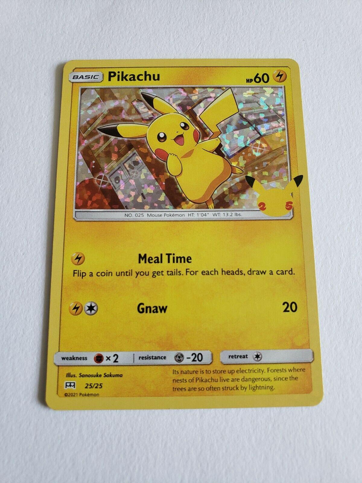 Pokemon TCG McDonald's 25th Anniversary Promos Pikachu 25/25 Holo NM