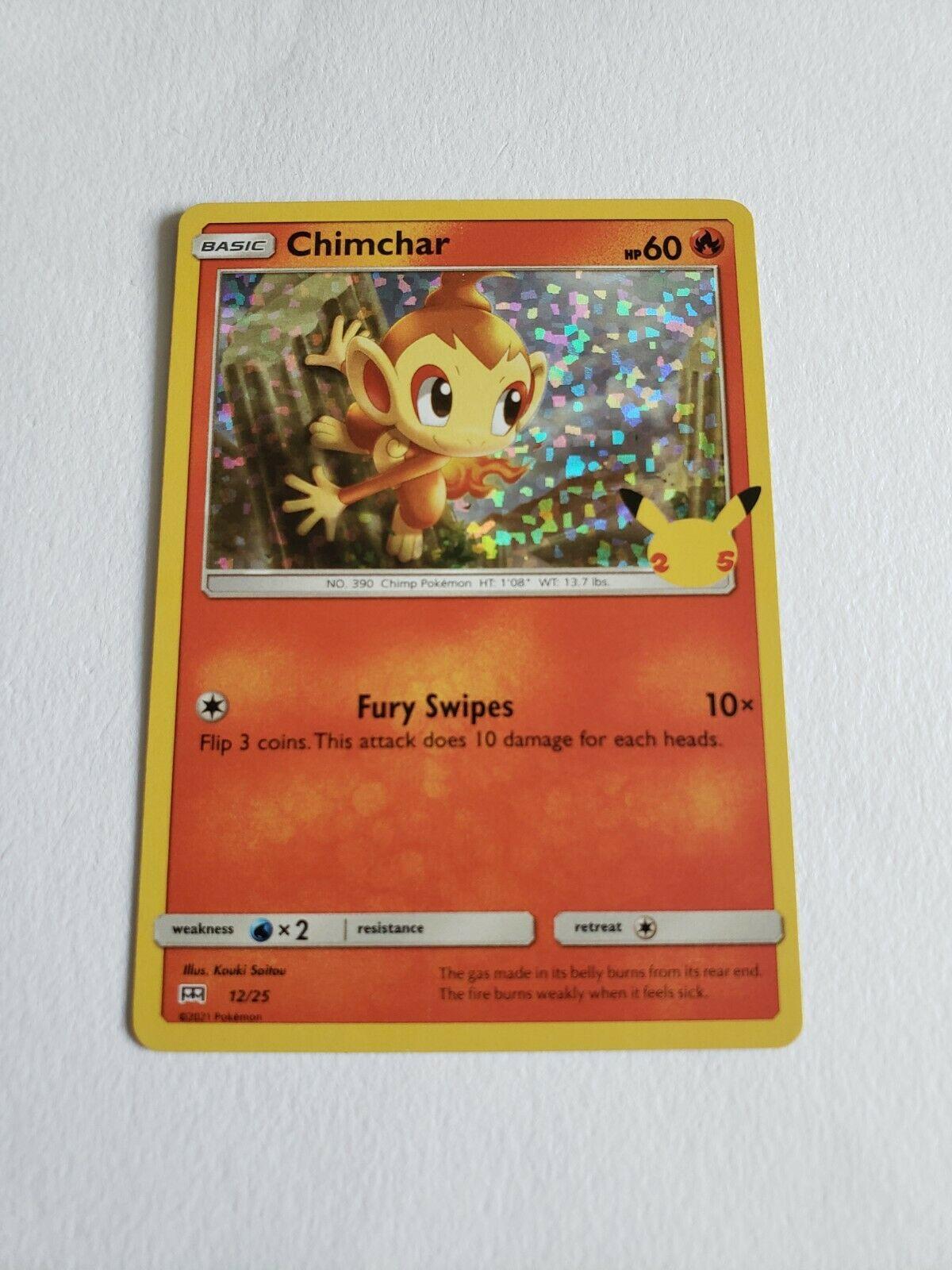 Pokemon TCG McDonald's 25th Anniversary Promos Chimchar 12/25 Holo NM
