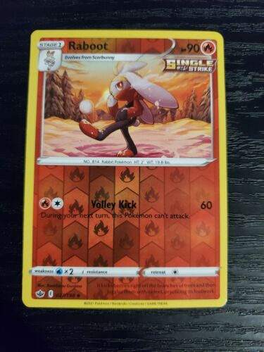 Raboot 027/198 Chilling Reign Reverse Holo Pokemon Card NM