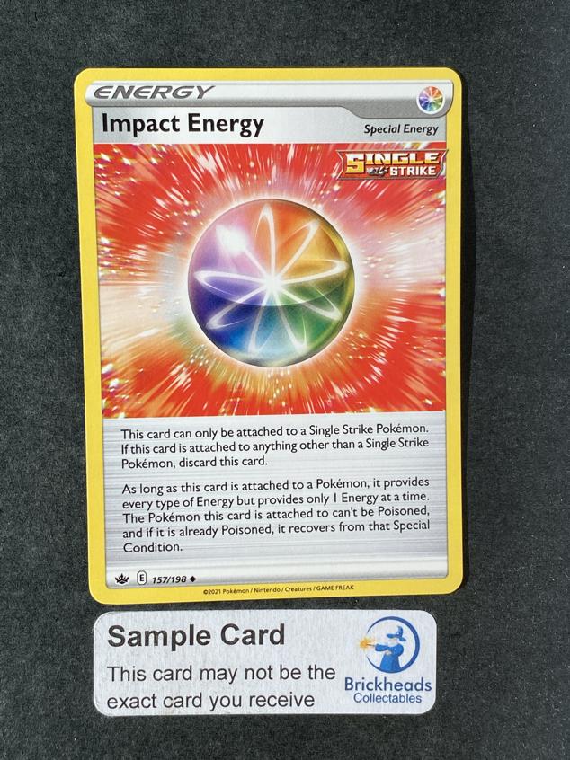 Impact Energy 157/198 Trainer | SWSH: Chilling Reign | Pokemon Card