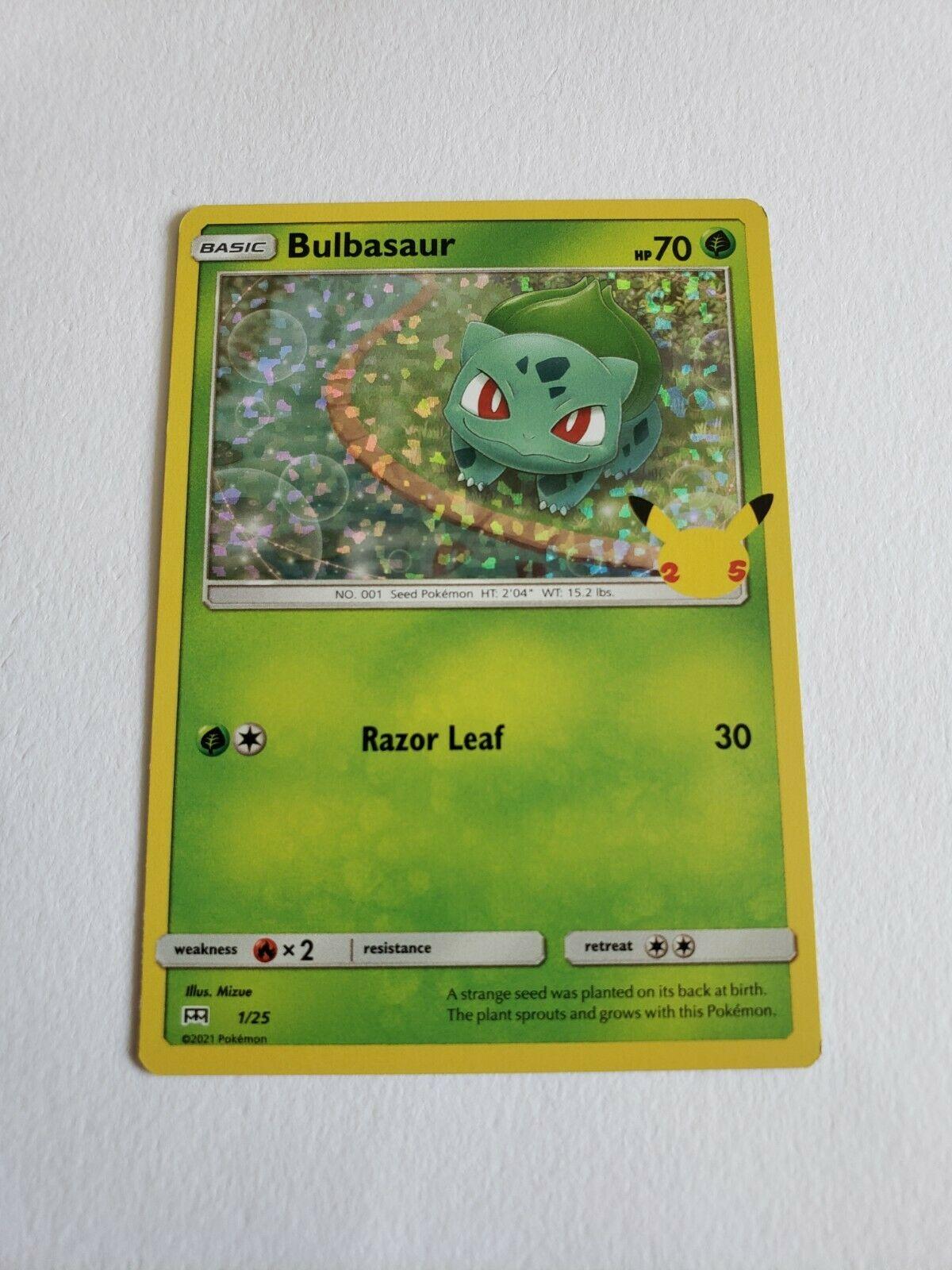 Pokemon TCG McDonald's 25th Anniversary Promos Bulbasaur 1/25 Holo NM/M
