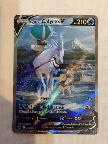 POKEMON CHILLING REIGN Ice Rider Calyrex V 164/198 ALTERNATE ART NM