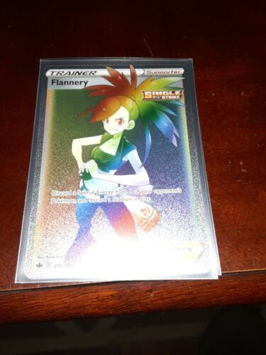 Flannery 215/198 Full Art Secret Rare Rainbow Chilling Reign Pokemon TCG