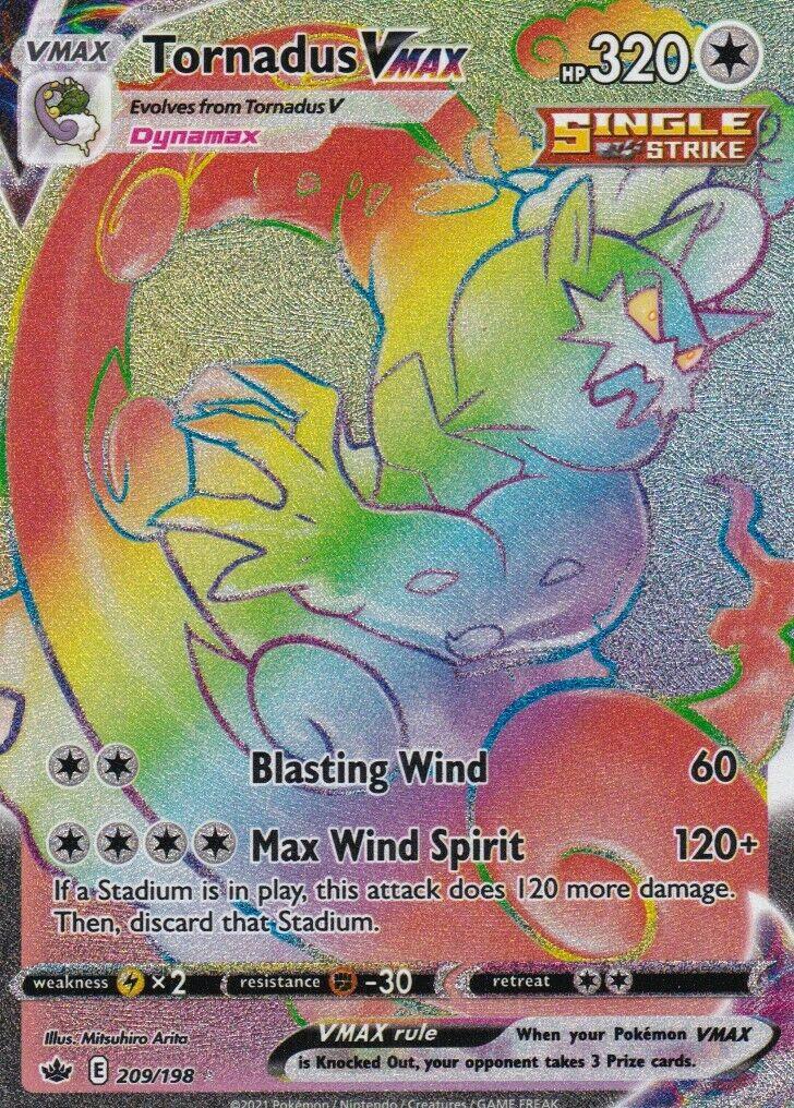 Pokemon - Chilling Reign - Tornadus VMAX (209/198)
