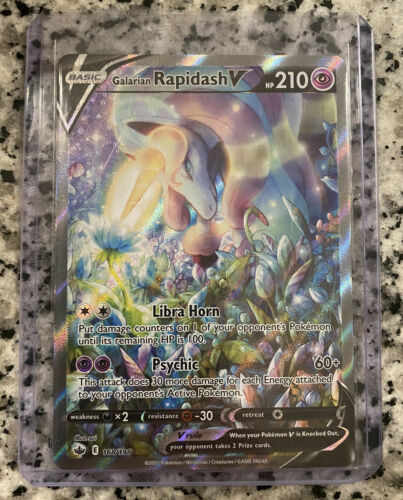 Pokémon Chilling Reign Galarian Rapidash V Alternate Full Art 168/198