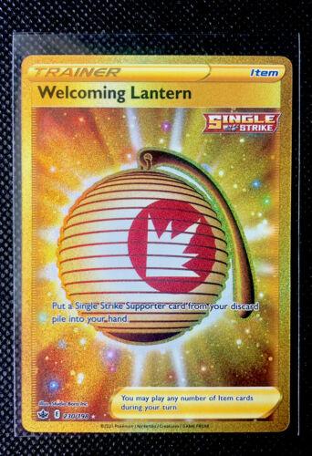 POKEMON CHILLING REIGN - WELCOMING LANTERN GOLD SECRET RARE 230/198 NEAR MINT