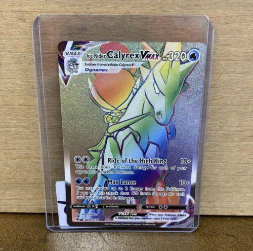 MT - Ice Rider Calyrex Vmax Rainbow Rare- 202/198 - Chilling Reign -Pokemon Card