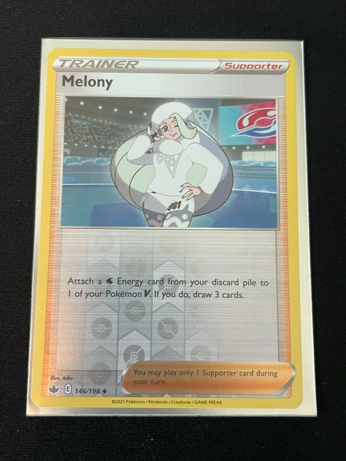 Pokemon S&S Chilling Reign REVERSE HOLO Melony 146/198 NM