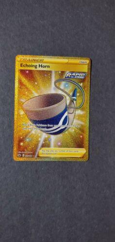 Pokemon Chilling Reign Echoing Horn 225/198 Gold Secret Rare