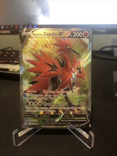 Galarian Zapdos V 2021 Pokemon TCG Chilling Reign V Full Art Rare 173/198 NM!