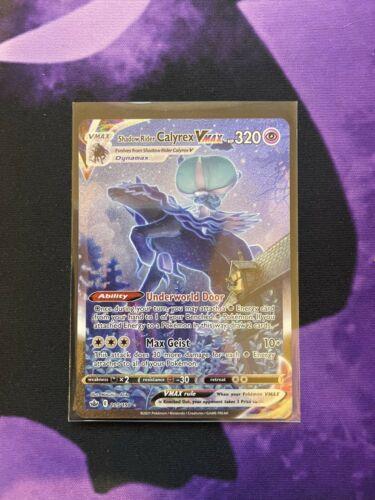 Shadow Rider Calyrex VMAX Alternate Card 205/198 Chilling Reign Pokémon TCG