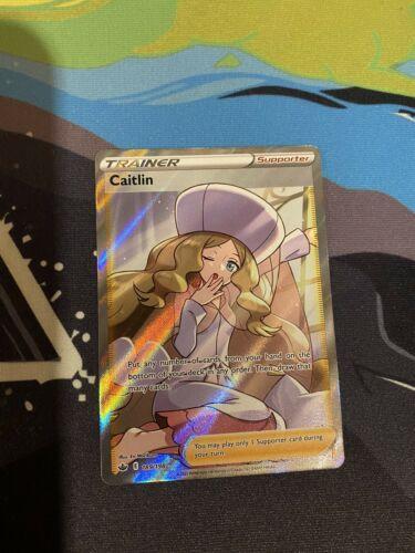 Pokemon Chilling Reign Caitlin 189/198 Full Art Trainer Ultra Rare Centered 🔥🔥