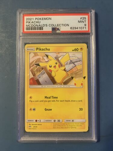 2021 Pokemon Mcdonald's 25th Anniversary Pikachu Non - Holo 25/25 PSA 9 MINT