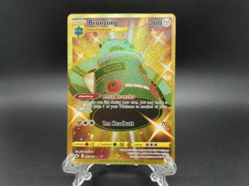 Bronzong Shiny Gold Secret Rare 223/198 - Pokemon Chilling Reign Near Mint/Mint