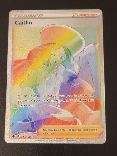 🌈 Secret Caitlin 213/198 - Chilling Reign - Pokemon TCG Rainbow Rare 🌈
