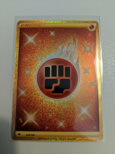 Pokemon Chilling Reign - Fighting Energy 233/198 Secret Rare Gold