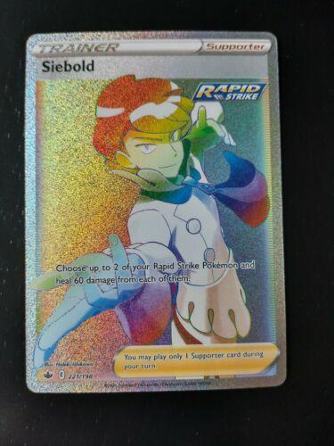 Siebold 221/198 Chilling Reign Secret Rare Rainbow Rare Trainer Mint Pokemon