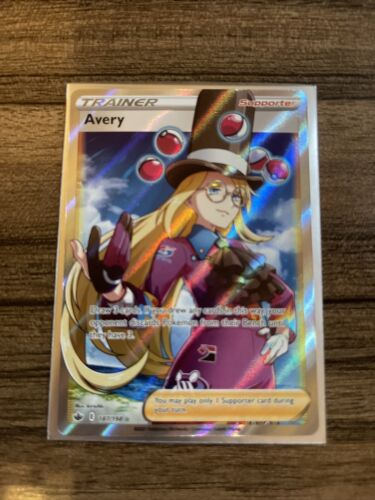 Avery Full Art Ultra Rare Holo Trainer Pokemon Card Chilling Reign 187/198 M/NM