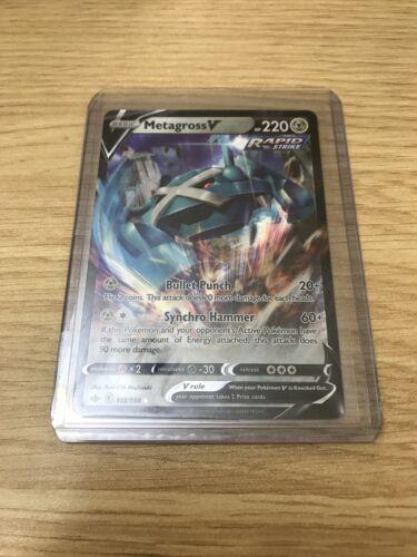 METAGROSS V 112/198 — mint/nm — Pokémon TCG CHILLING REIGN