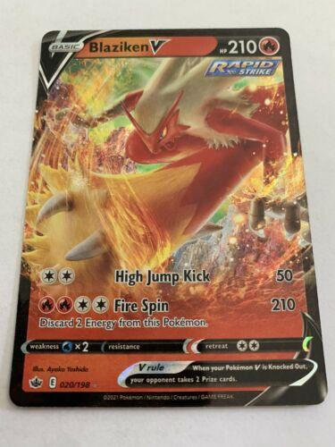 Blaziken V 020/198 🔥 Full Art Holo Rare Chilling Reign 💎 Pokemon Card Mint