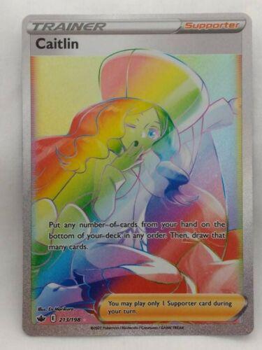 Rare Rainbow Klara Trainer Pokemon Chilling Reign Card 217/198 Mint Condition