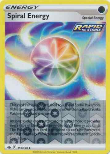 Pokemon - Spiral Energy - 159/198  - REVERSE HOLO - Chilling Reign - NM/M