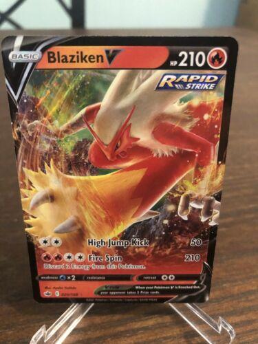 Blaziken V 020/198 Chilling Reign Ultra Rare Holo Pokemon Card NM