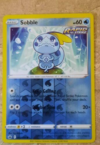 Pokemon Chilling Reign Sobble Reverse Holo Common 041/198 NM