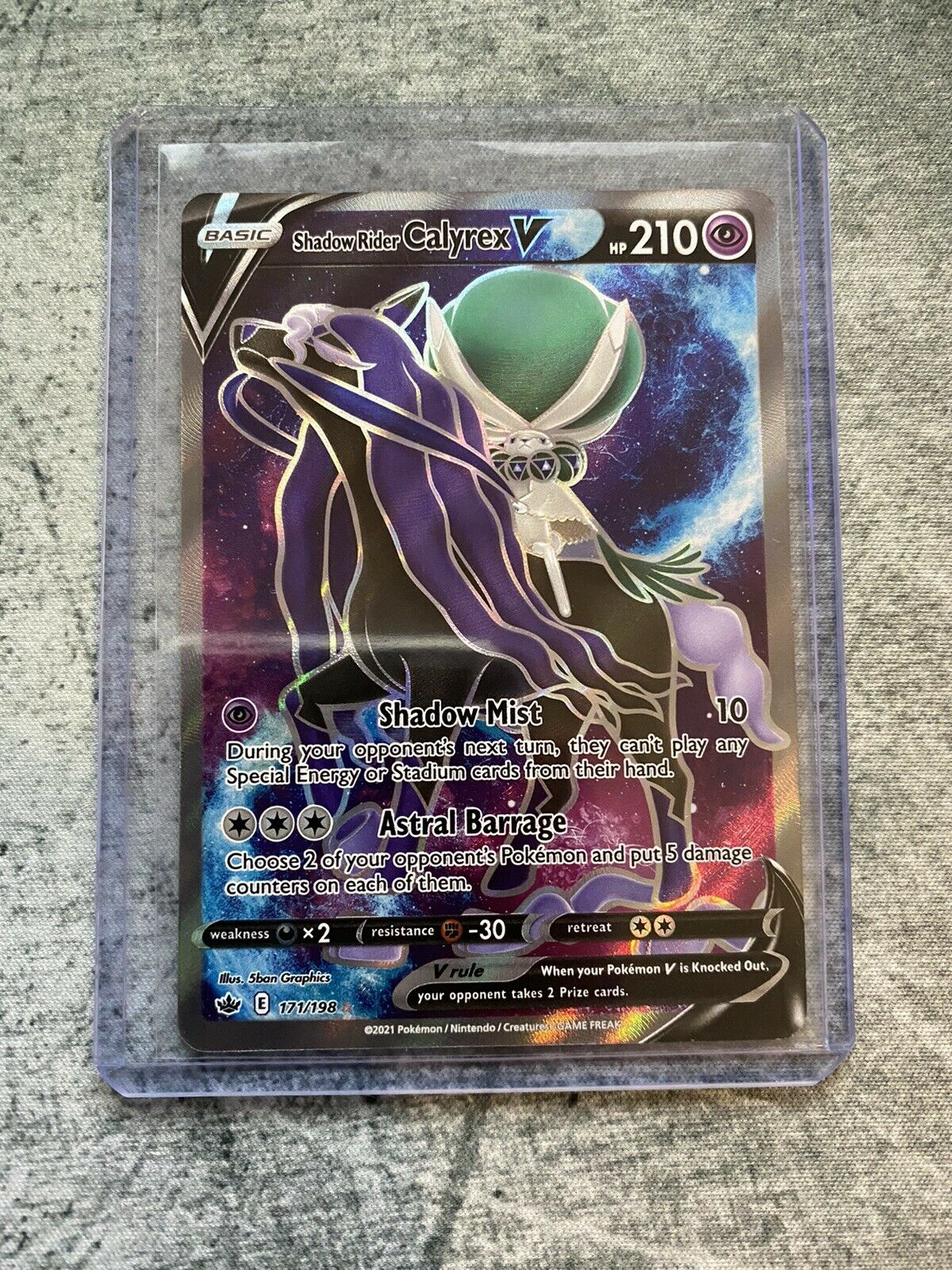 Pokémon Shadow Rider Calyrex V Full Art 171/198 Chilling Reign