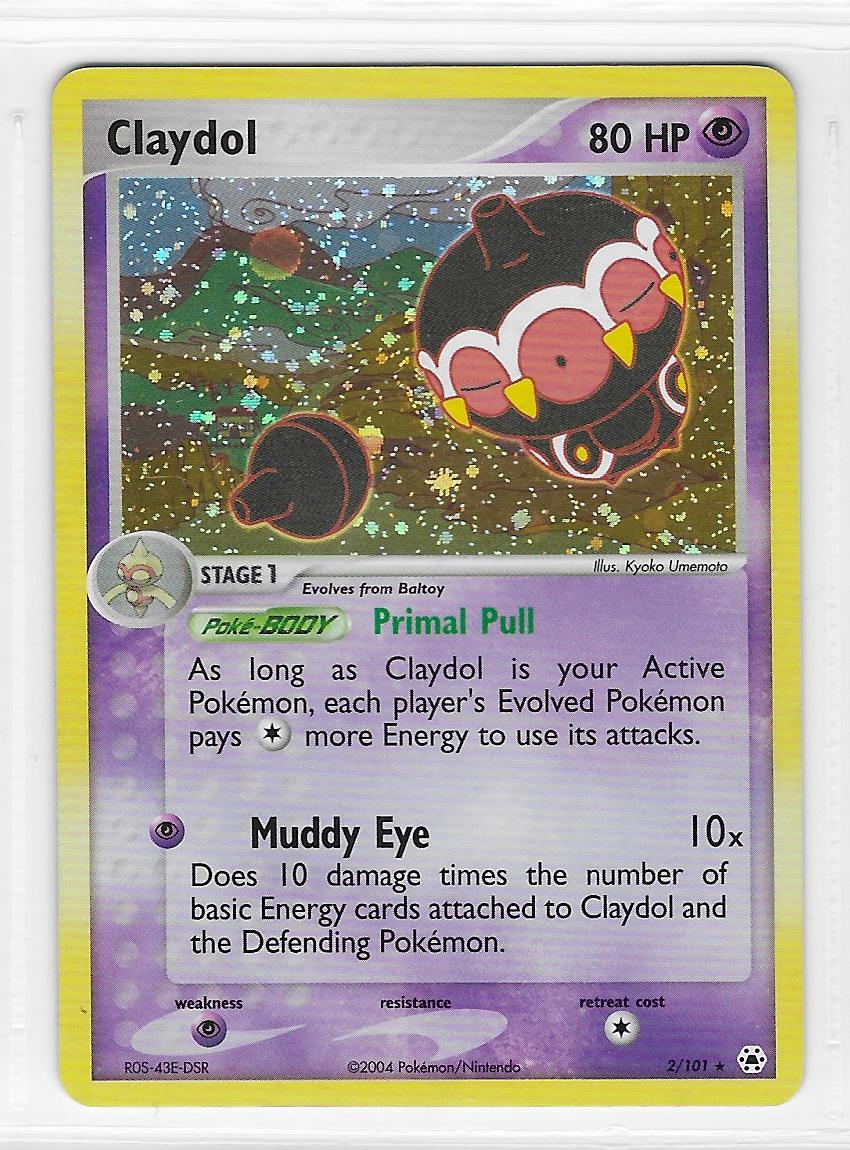Pokemon Claydol 2/101 Hidden Legends Rare Holo Near Mint Condition