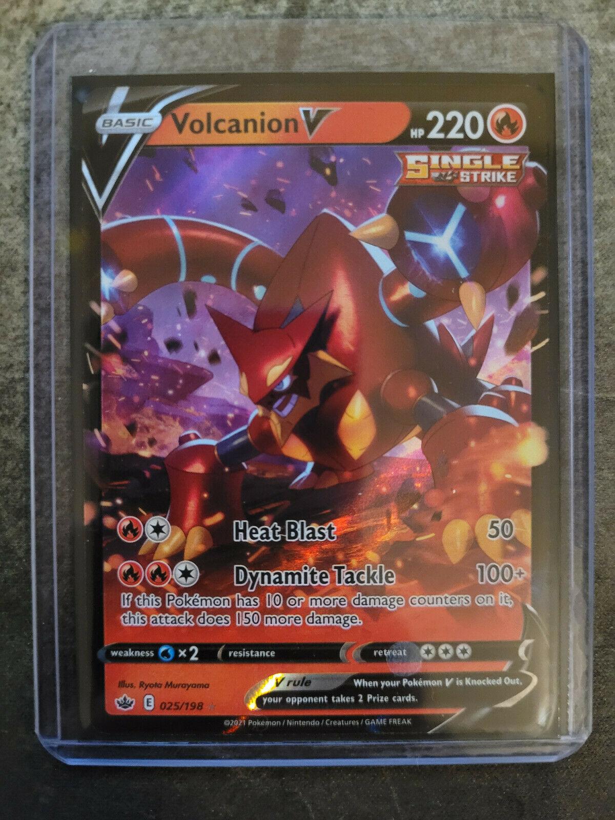 POKEMON TCG CARD Volcanion V 025/198 Chilling Reign 2021 Ultra Rare Holofoil NM