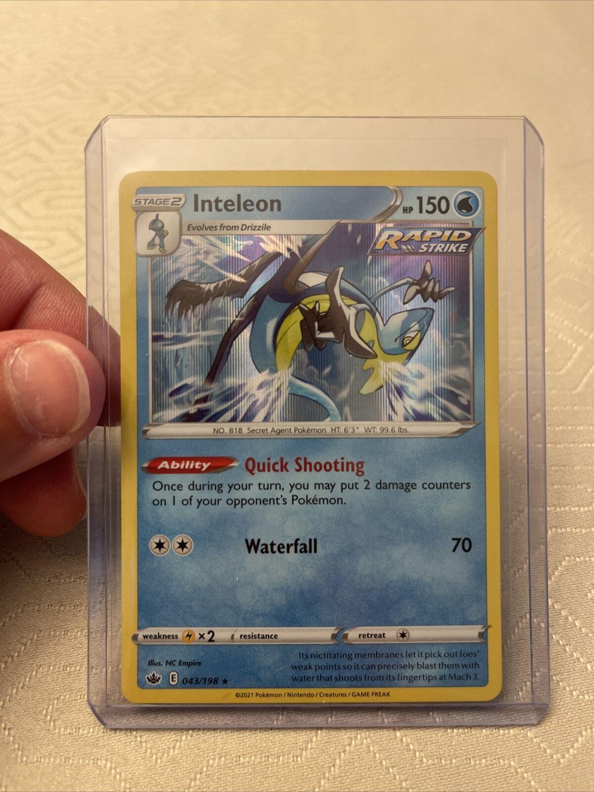 Inteleon 043/198 Holo Rare Chilling Reign Pokemon Card NM/M