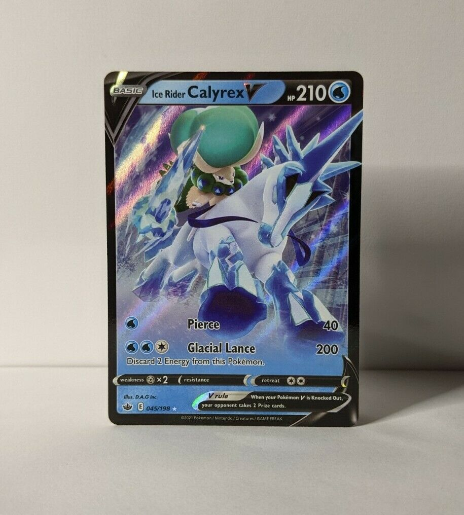 Ice Rider Calyrex V Holo Ultra Rare - Chilling Reign 045/198 - Near Mint / NM