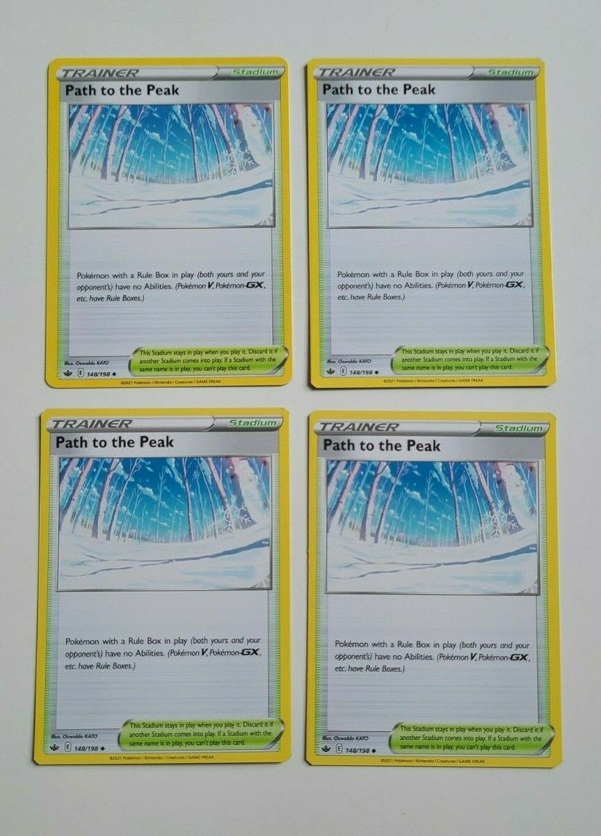 x4 Path to the Peak 148/198 Common - Chilling Reign - Pokemon TCG 1 of 2