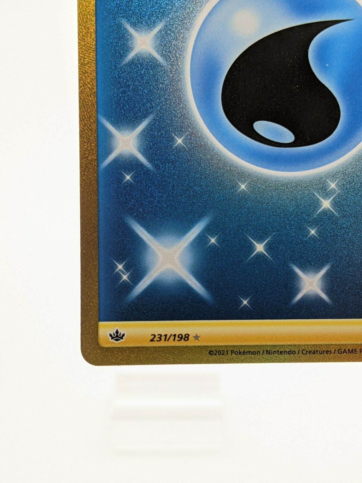 Water Energy 231/198 Chilling Reign Pokemon TCG Secret Rare NM - Image 5