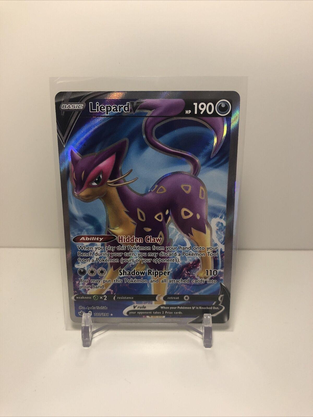 Liepard V Pokémon Card (Chilling Reign 180/198) Full Art