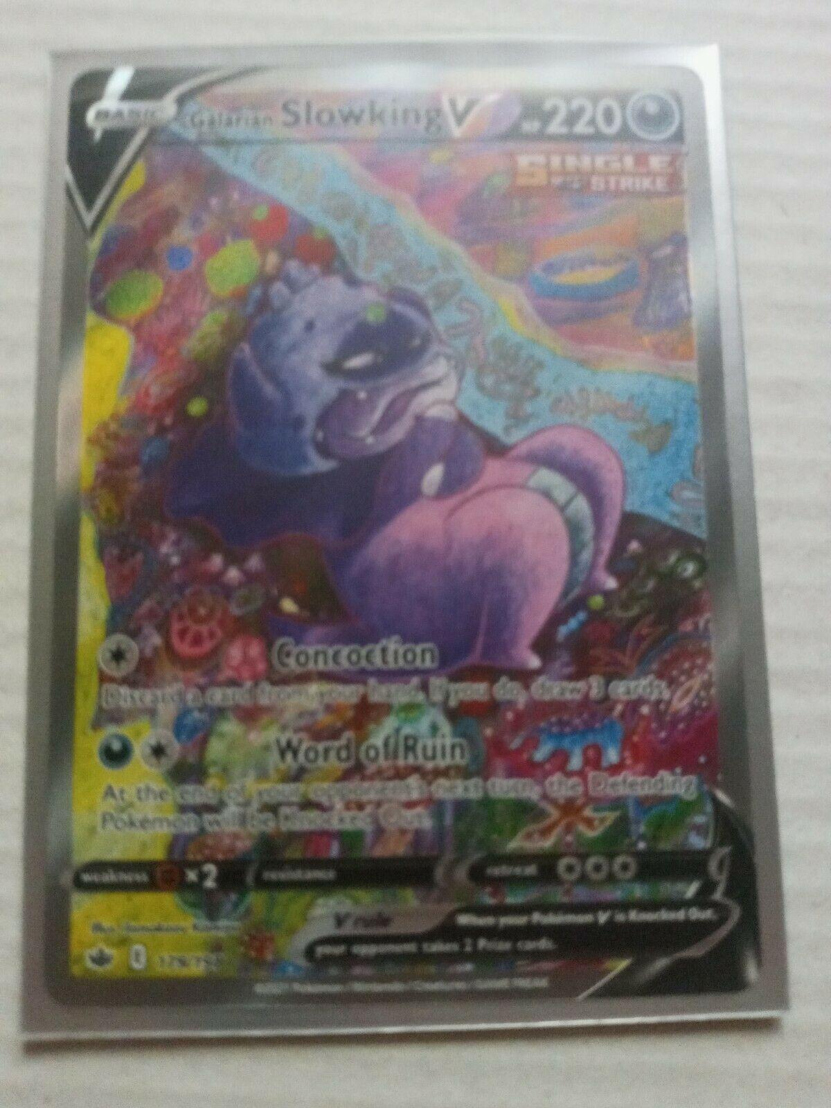 Galarian Slowking V 179/198 Chilling Reign Ultra Rare Alternate Art Pokémon TCG