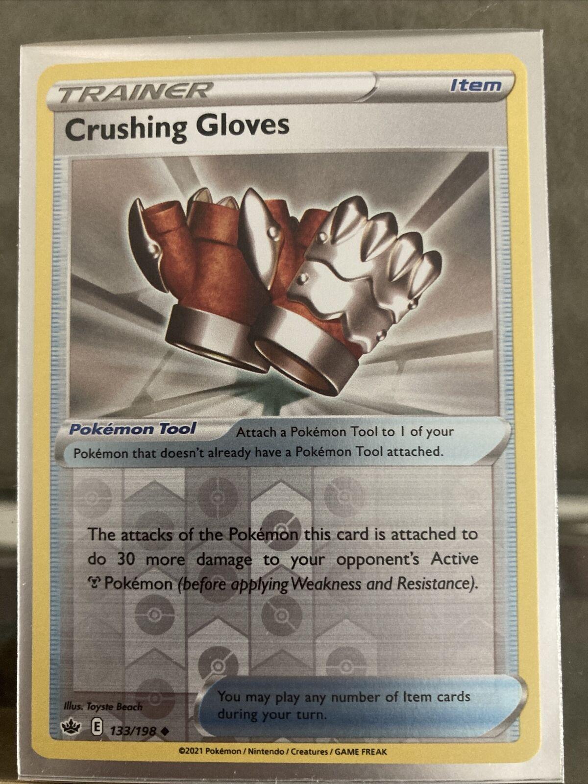 Crushing Gloves 133/198 Chilling Reign Reverse Holo Pokemon Card NM