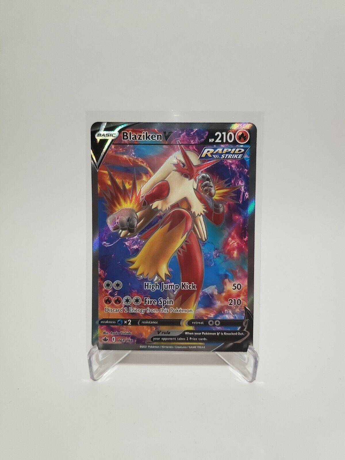 Pokemon Blaziken V 161/198 Full Art Ultra Rare Chilling Reign NM-Mint