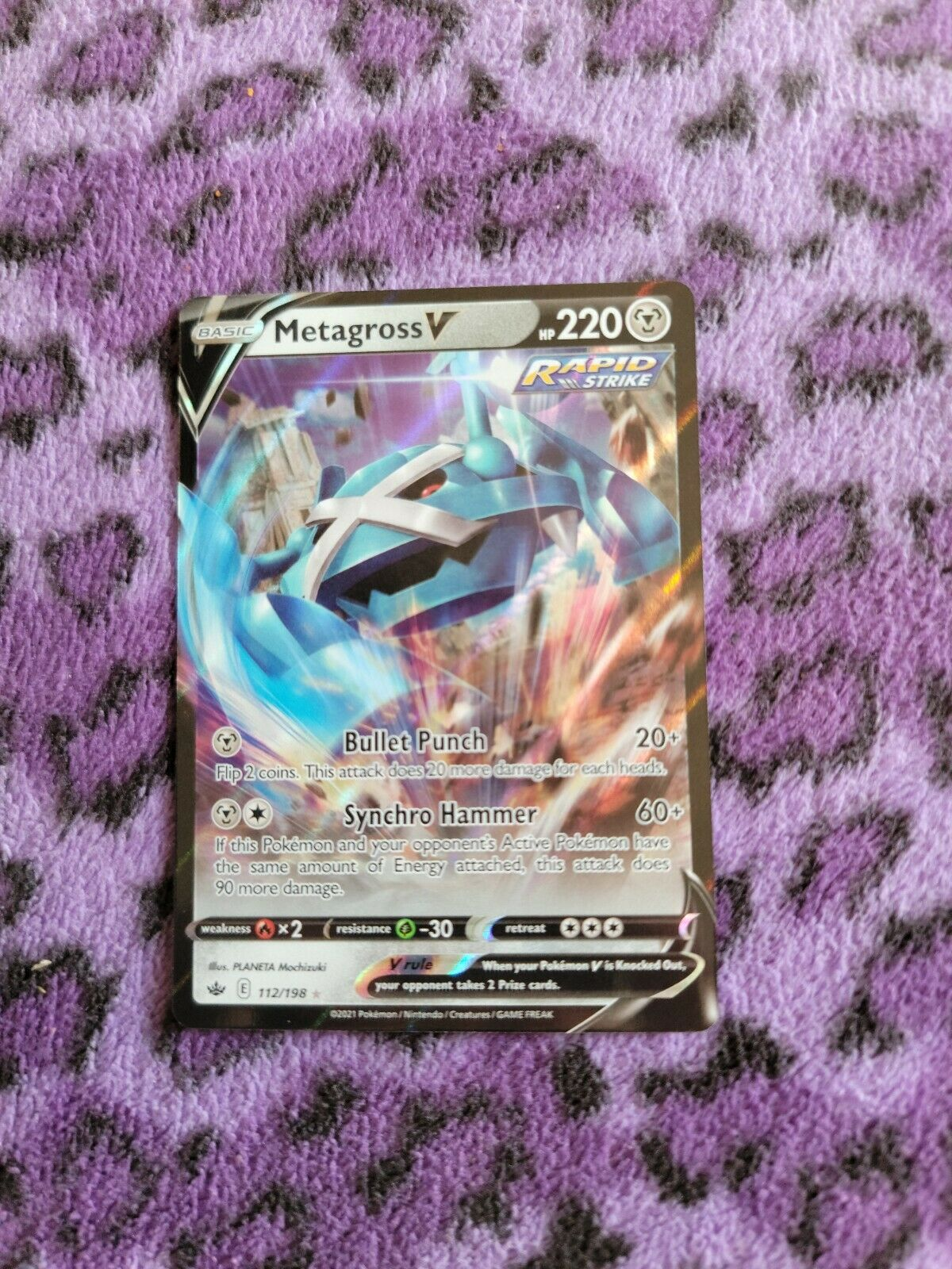 Metagross V 112/198 Chilling Reign NM Full Art Ultra Rare Pokemon Card
