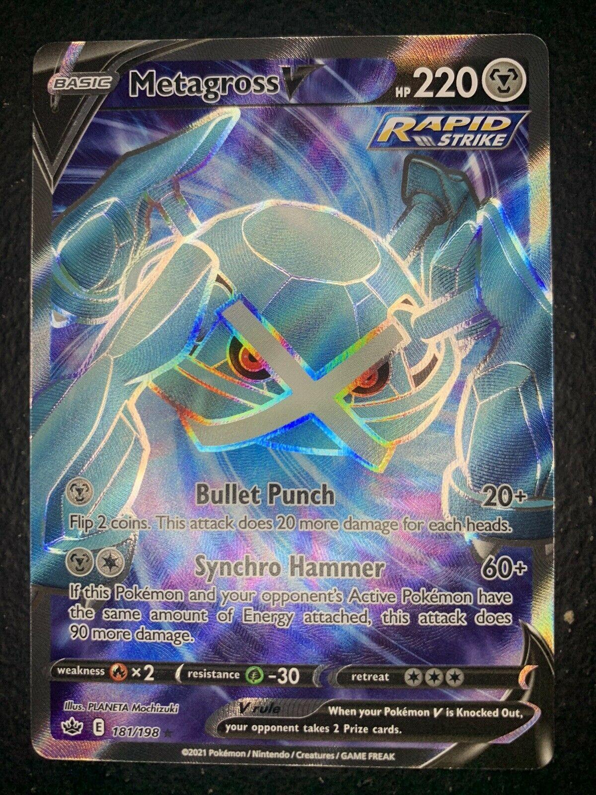 Metagross V 181/198 Chilling Reign Full Art Holo Rare Pokemon Card *Fresh Pull*
