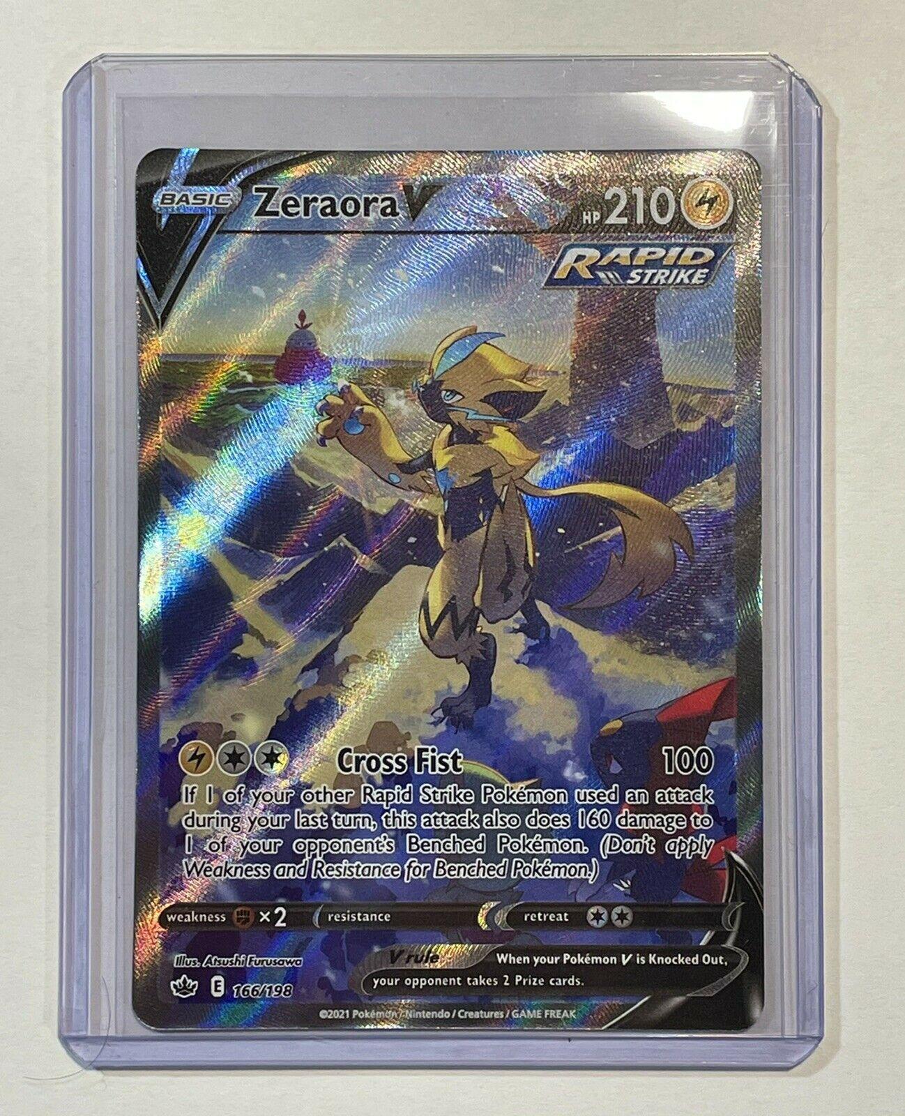 Pokemon TCG Chilling Reign Zeraora V Alternate Full Art Ultra Rare NM 166/198