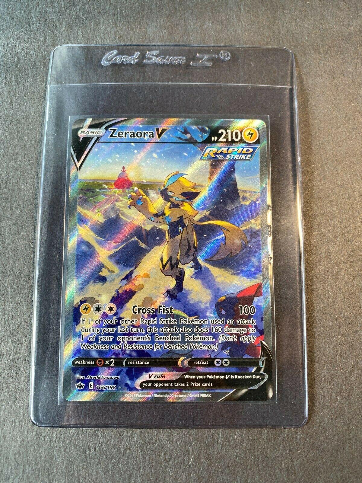 Pokemon TCG Chilling Reign Zeraora V(Alternate Full Art)166/198, Likely a 10!