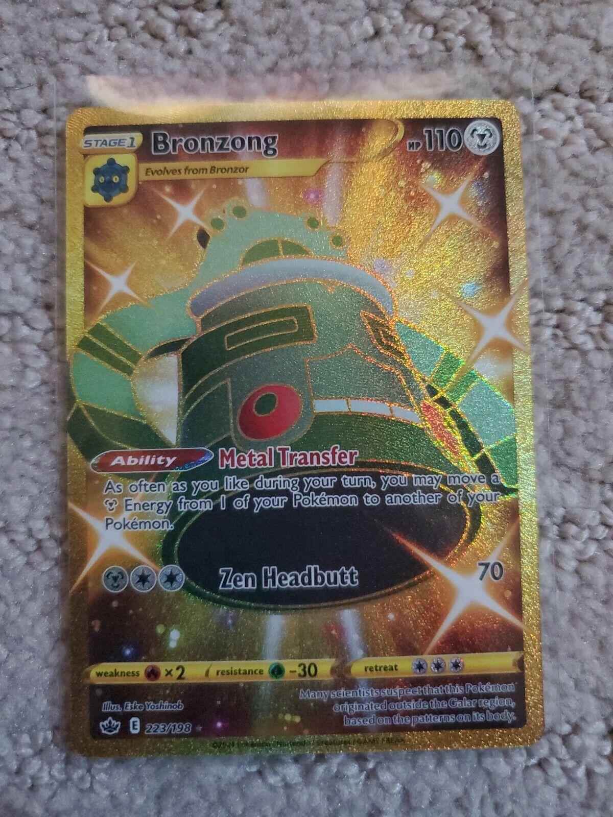 Pokemon Chilling Reign Bronzong Secret Gold Rare 223/198 NM/M