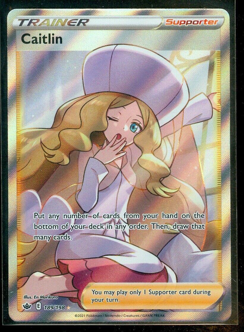 Pokemon CAITLIN 189/198 Chilling Reign RARE FULL ART - MINT