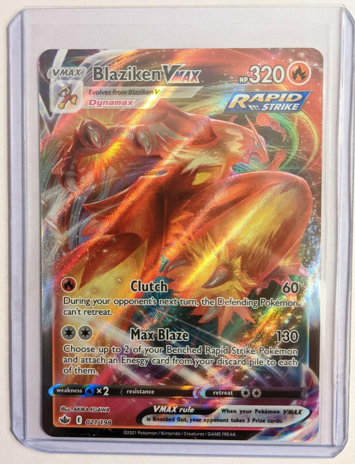 Blaziken VMAX 021/198 Full Art Ultra Rare Chilling Reign Pokemon TCG
