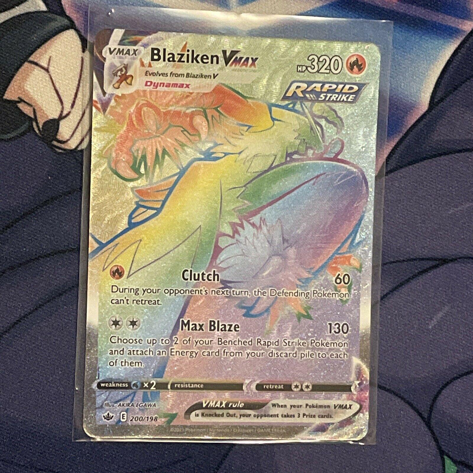 Pokemon Blaziken VMAX 200/198 Secret Rainbow Rare Chilling Reign hyper English