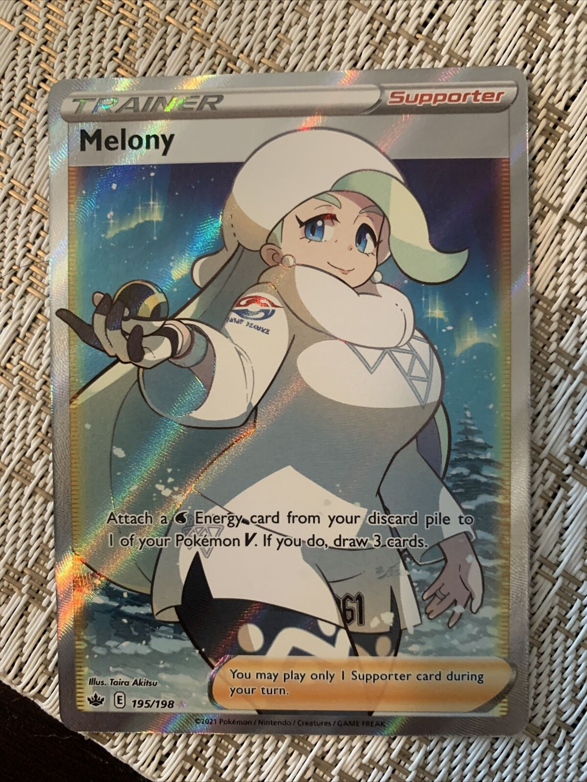 Melony Full Art 195/198 Pokemon Card Ultra Rare Chilling Reign Fresh Pull🔥🔥