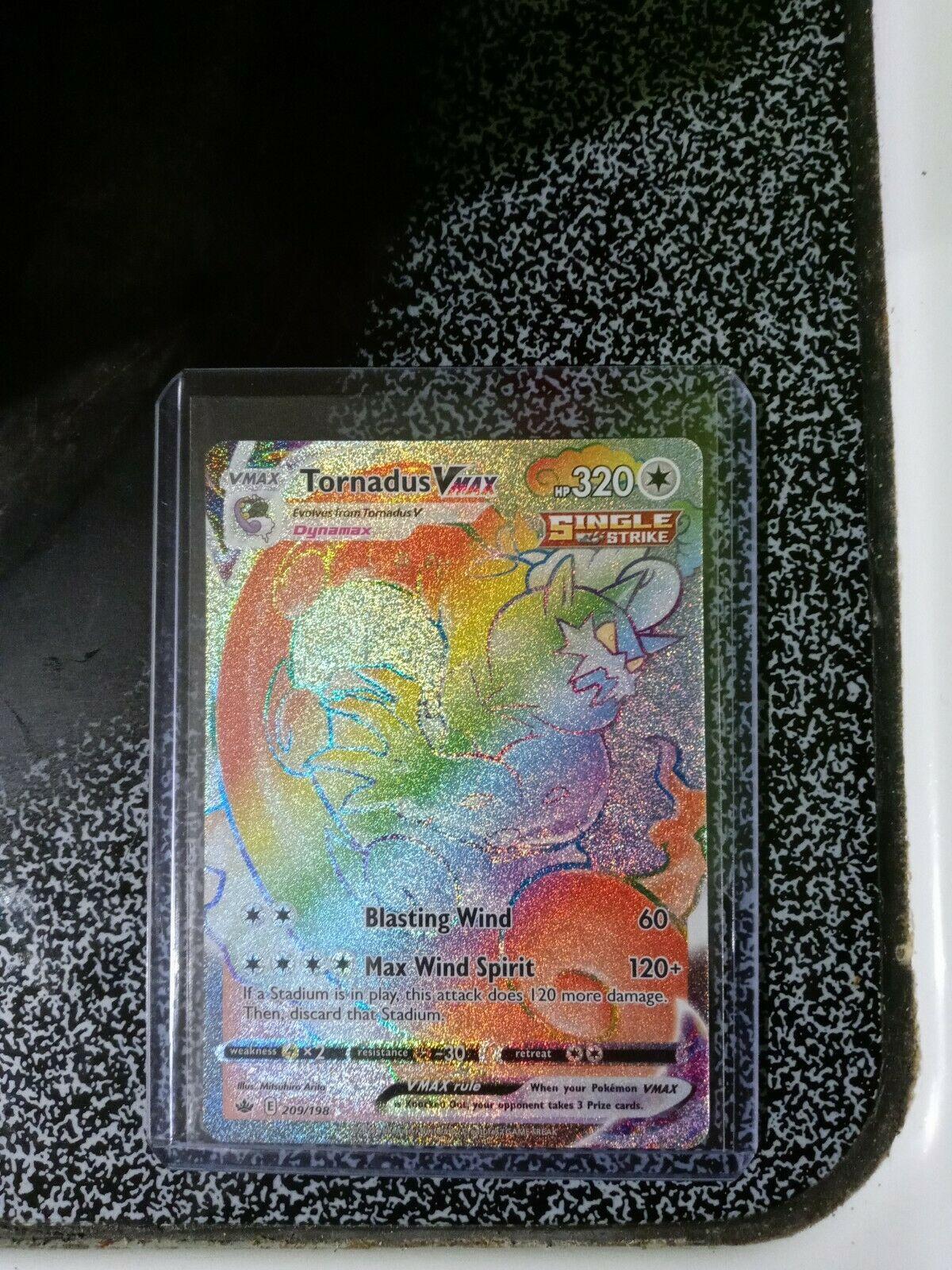 Tornadus VMax (209/198) Pokemon TCG Chilling Reign Rainbow Rare - 2021 - Image 1